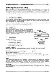 Dehnungsmessstreifen (DMS) - Carl-Engler-Schule - Karlsruhe
