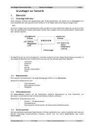 Sensor-Grundlagen - Carl-Engler-Schule - Karlsruhe