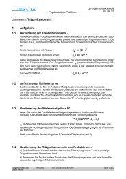 Trägheitsmoment - Carl-Engler-Schule - Karlsruhe