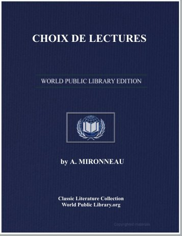 CHOIX DE LECTURES - World eBook Library
