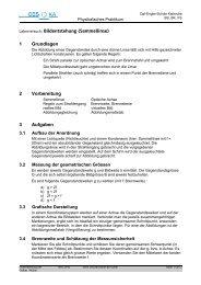 Bildentstehung (Sammellinse) - Carl-Engler-Schule - Karlsruhe