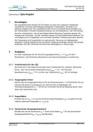 Opto-Koppler - Carl-Engler-Schule - Karlsruhe