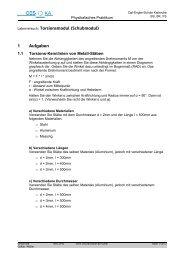 Torsionsmodul - Carl-Engler-Schule - Karlsruhe
