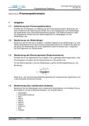 Prismenspektrometer - Carl-Engler-Schule - Karlsruhe
