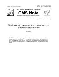 CMS Note - CERN Document Server