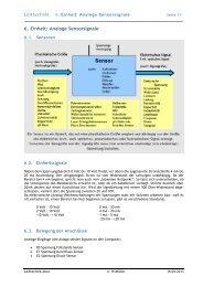6. Einheit: Analoge Sensorsignale