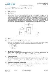 OPV Integrierer und Differenzierer - Carl-Engler-Schule - Karlsruhe
