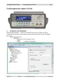 Funktionsgenerator Agilent 33210A - Carl-Engler-Schule - Karlsruhe