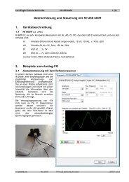 Messungen mit NI-USB6009 - Carl-Engler-Schule - Karlsruhe