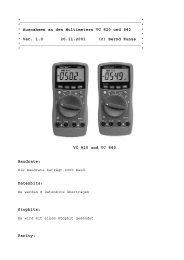 Info zum Multimeter VC 820