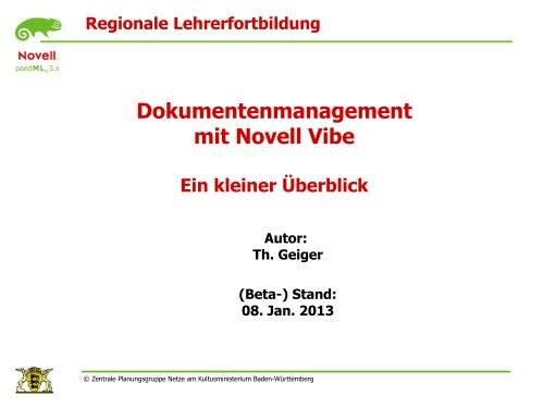 Dokumentenmanagement mit Novell Vibe