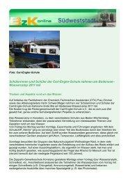bzkonline Wassercamp 2011 - Carl-Engler-Schule - Karlsruhe