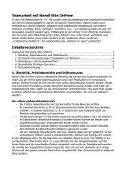 Teamarbeit mit Novell Vibe OnPrem Inhaltsverzeichnis