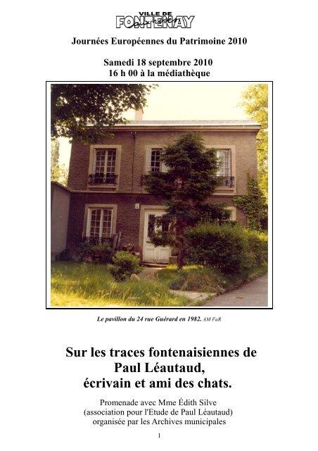 Paul Léautaud Fontenay Aux Roses