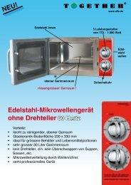 Edelstahl-Mikrowellengerät ohne Drehteller 60 Hertz - Together GmbH
