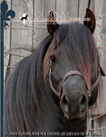 Volume 14-1 été 2012 - Association québécoise du cheval canadien