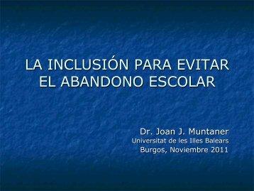 la inclusión para evitar el abandono escolar - CFIE de Burgos