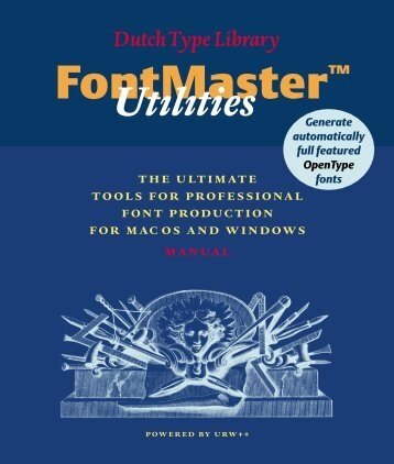DTL FontMaster Manual1.1 PDF