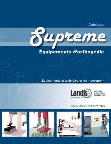 Équipements d'orthopédie - Landis Letendre