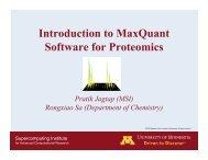 Introduction to MaxQuant - Minnesota Supercomputing Institute ...
