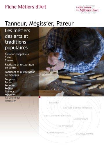Tanneur, Mégissier, Pareur - Institut National des Métiers d'Art
