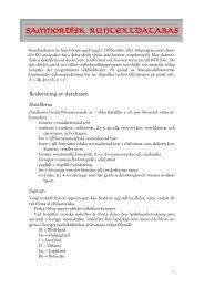 Beskrivning av databasen