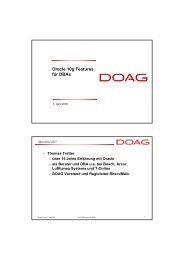 Oracle 10g Features für DBAs