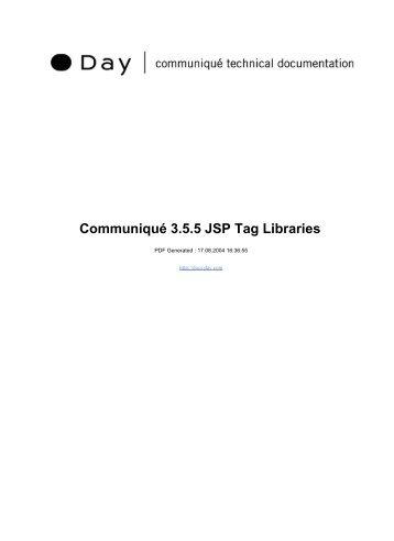 Communiqué 3.5.5 JSP Tag Libraries