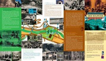 affiche parcours sources - Centre culturel de Vals-les-Bains