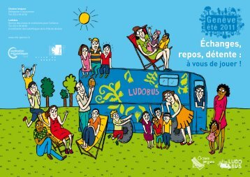 Ludobus estival et chaises longues - flyer 2011 - Ville de Genève