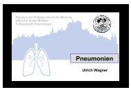 Pneumonien (Wagner) - HRZ Uni Marburg: Online-Media+CGI-Host