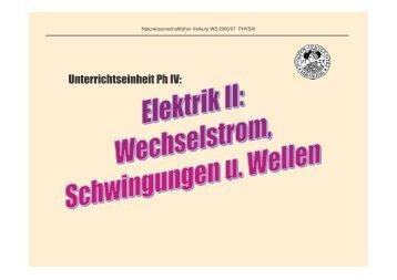 Unterrichtseinheit Ph IV: - HRZ Uni Marburg: Online-Media+CGI-Host