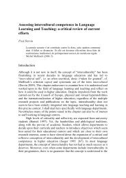 Assessing intercultural competence in Language Learning and ...