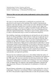 Wherever there are laws and systems, mathematics is - HRZ Uni ...
