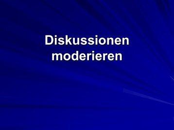 Diskussionen moderieren - HRZ Uni Marburg: Online-Media+CGI-Host