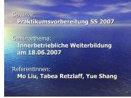 2.7 Methoden der innerbetrieblichen Weiterbildung - HRZ Uni ...