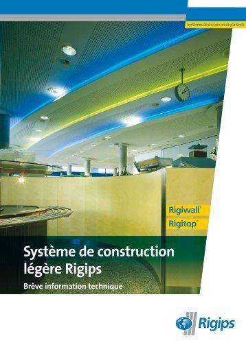 Système de construction légère Rigips