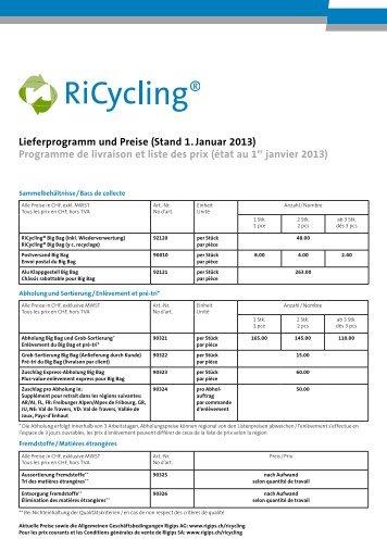 Lieferprogramm und Preise (Stand 1. Januar 2013 ... - Rigips