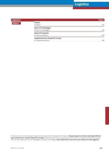 Logistica Supplementi per trasporti con gru - Rigips