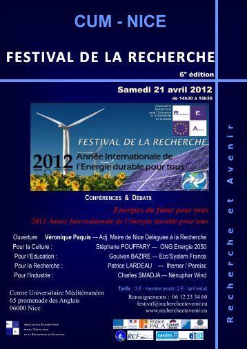 Affiche et Communiqué de Presse du Festival de - Nice
