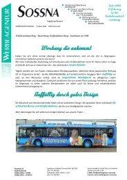 Verkehrsmittelwerbung - Buswerbung ... - Werbeagentur Sossna