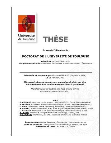 THÈS EE - le serveur des thèses en ligne de l'INSA de Toulouse ...