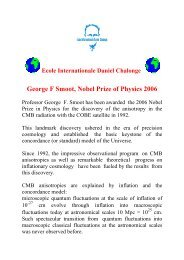 Nobel Prize 2006 - Chalonge School