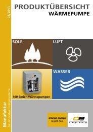 Produktübersicht Wärmepumpe