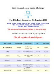 List of registered participants - Chalonge School - Observatoire de ...