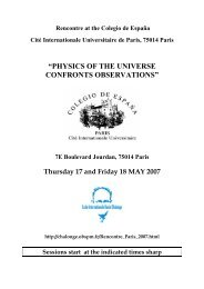 physics of the universe confronts observations - Observatoire de Paris