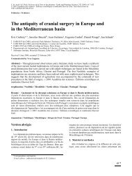 The antiquity of cranial surgery in Europe and in the Mediterranean ...