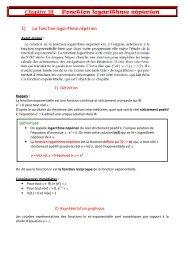 Chapitre 10: Fonction logarithme népérien - Maths JP2