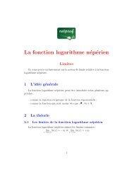 La fonction logarithme népérien - Netprof.fr