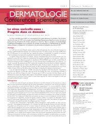 Le virus varicelle-zona - Dermatologie conférences scientifiques